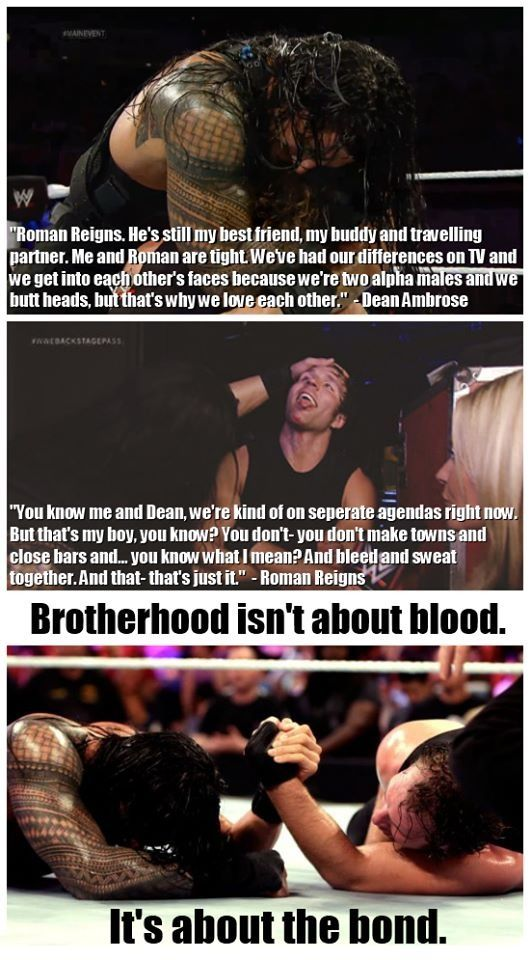 Dean and Roman = True Brotherhood