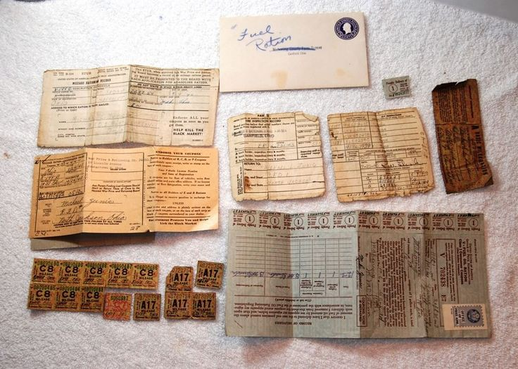 WWII Fuel Oil Ration Stamp and Mileage Log Lot   #WWII #ration #history #stockingstuffer #Collectable #Christmas