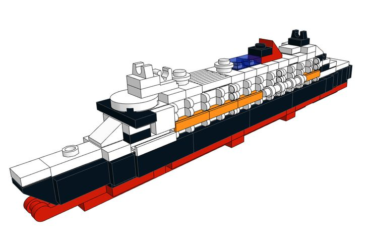 Download the Mini LEGO Queen Mary II Cruise Ship model on our website for free and build it using the LEGO Digital Designer!  #LEGO #cruise #summer #ship #ocean #liner #download #design #home #decor #free #kids