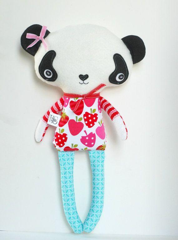 Plush Panda Doll Stuffed Panda Animal Toy di FriendsOfSocktopus, $44.00