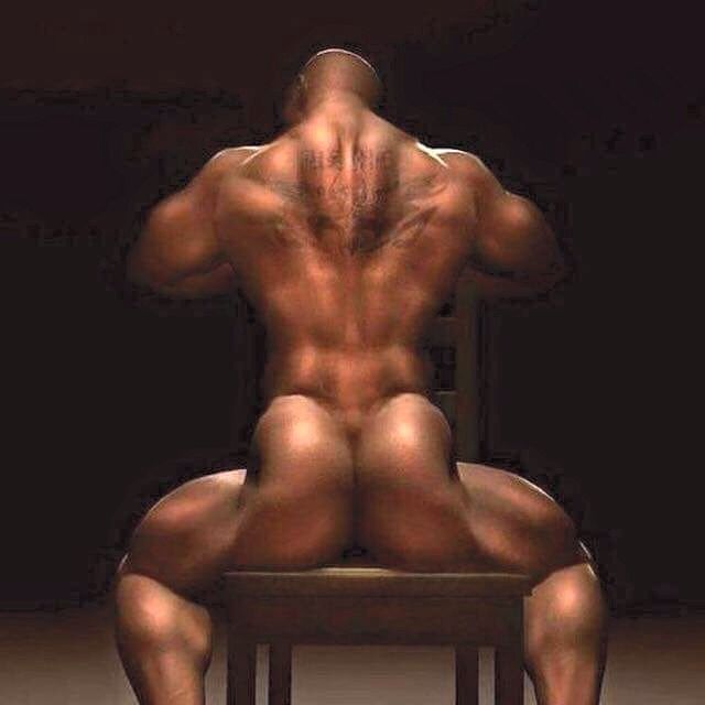 Black men butt ass naked