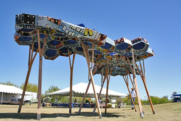 Honeycomb Shade Structure Shade Art Museum