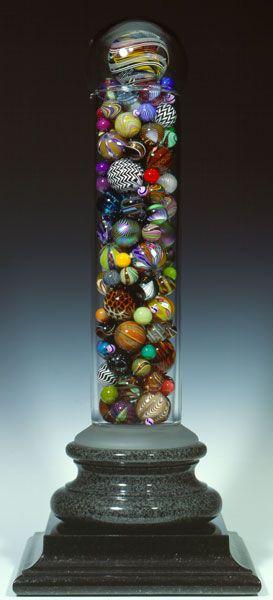 "Population Portrait IX Marble Jar AP  1990-1994 · 37"" · Edition of six · Mark Matthews"