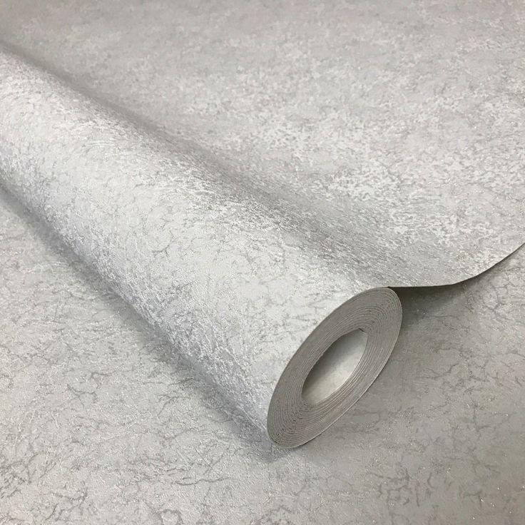 8517-03 Plain Light Gray Sparkle Wallpaper