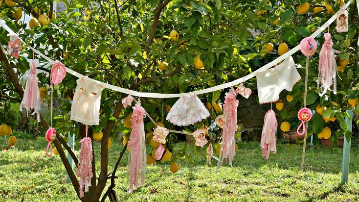 Girls Baby Shower Decor, Girls Baby Shower Banner, Baby Girls Nursery Decor, Vintage Baby Girl Shower Garland, Baby Girl Party Shower Decor