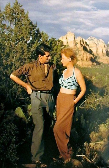 Lee Miller and Roland Penrose Sedona, Arizona 1946