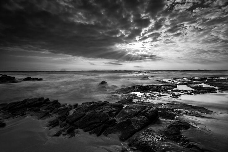 Low tide rock pools Cape Paterson, beach, rock pools, low, tide, clouds sunset, rocks, holiday