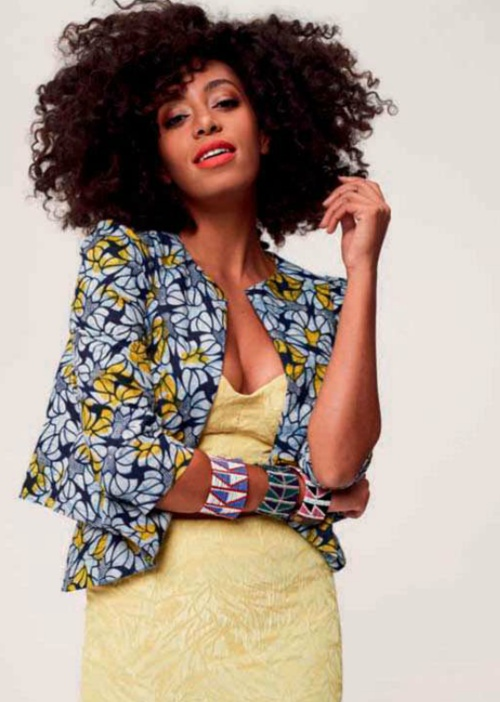 Solange Knowles For Elle South Africa Roupa Capulana Pinterest Solange Knowles South