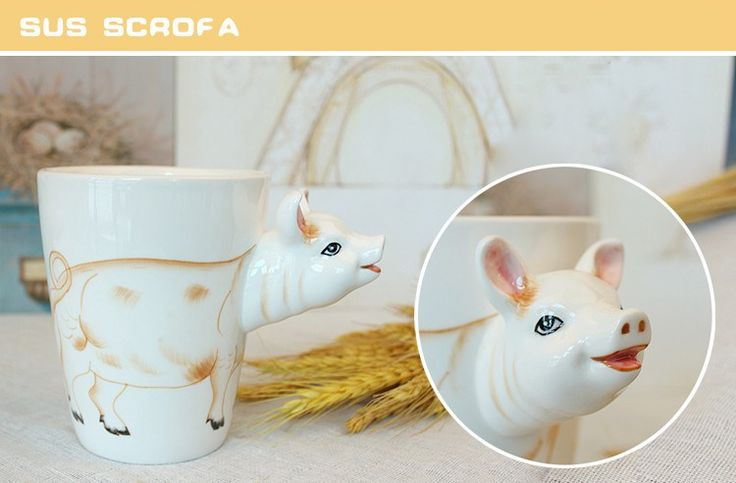 Mighty Ceramic Coffee Milk Tea Mug Creative Gift 3D Animal Shape Hand Painted Deer Giraffe Cow Rabbit Dog Cat Camel Elephant Cup //Price: $20.95 & FREE Shipping //     #hashtag3