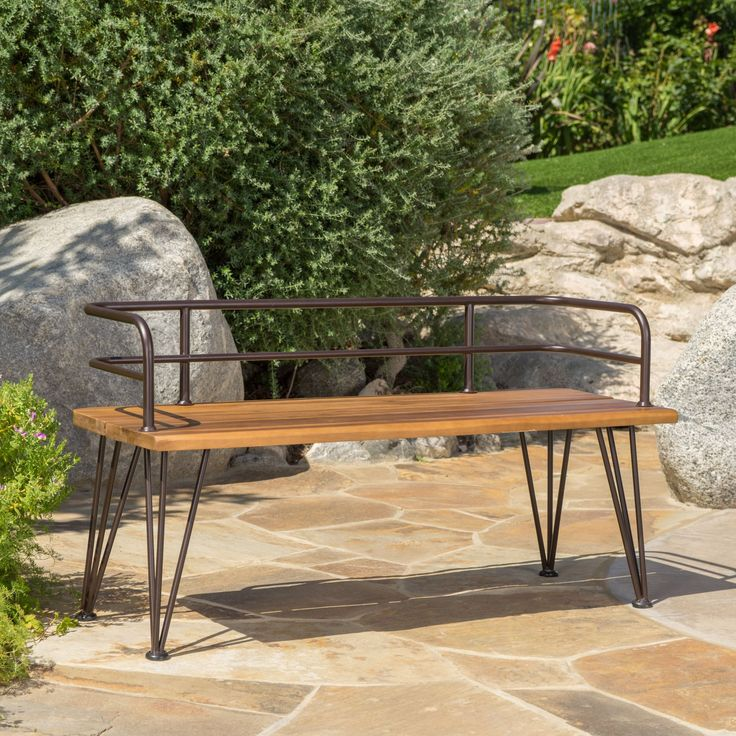 Zion Outdoor Industrial Acacia Wood Bench By Christopher Knight Home |  Overstock.com Shopping   Part 63