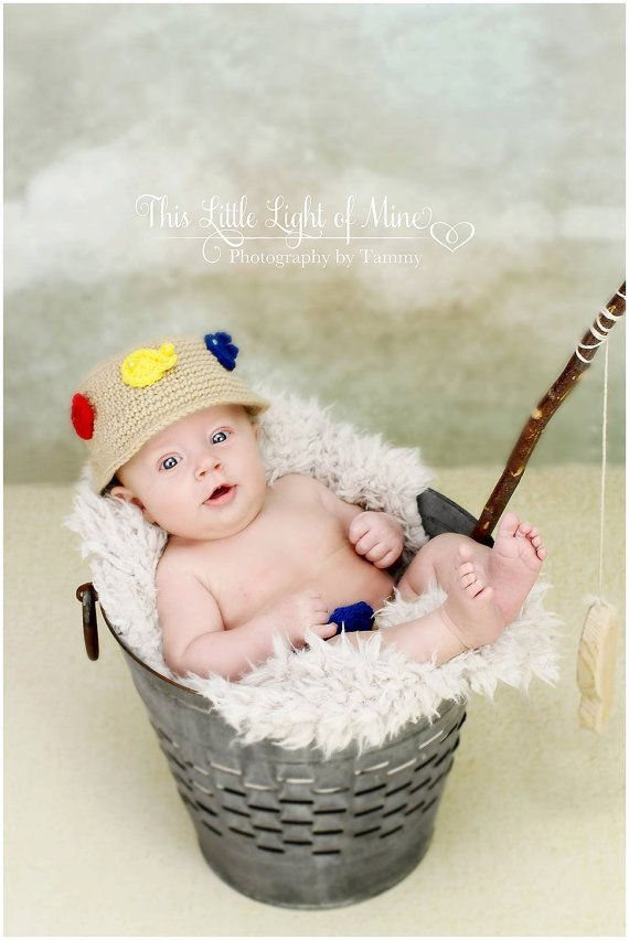 28 best images about new born photo shoot on pinterest for Baby fishing hat