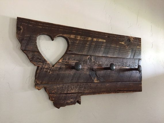 Montana Coat Rack from 'Montana with Love' made with Reclaimed Wood and Railroad Spikes