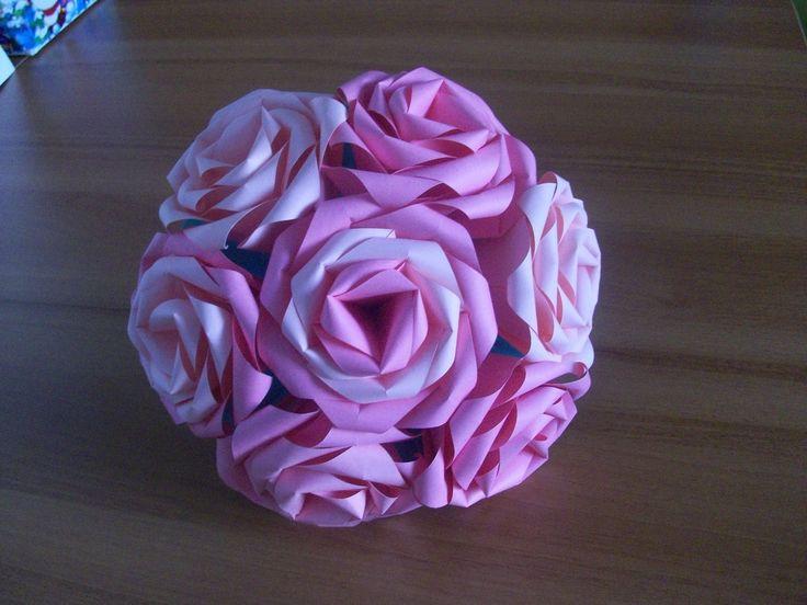 Оригами роза из бумаги простые цветы своими руками. Origami rose