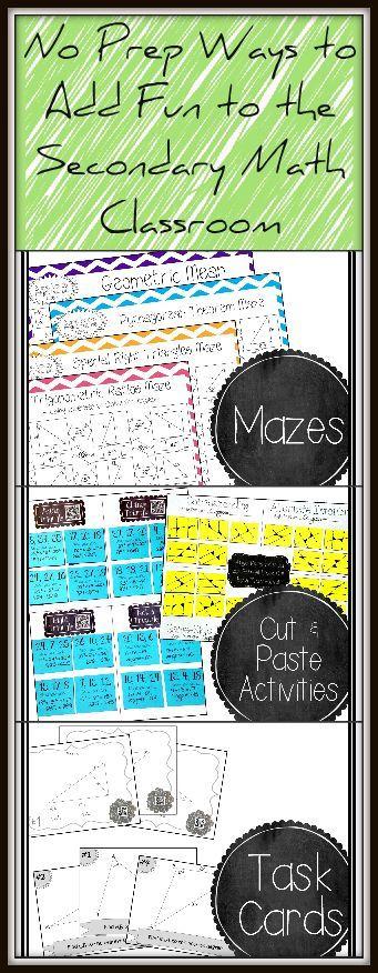 Great 8th Grade Math, Algebra 1, & Geometry Ideas!