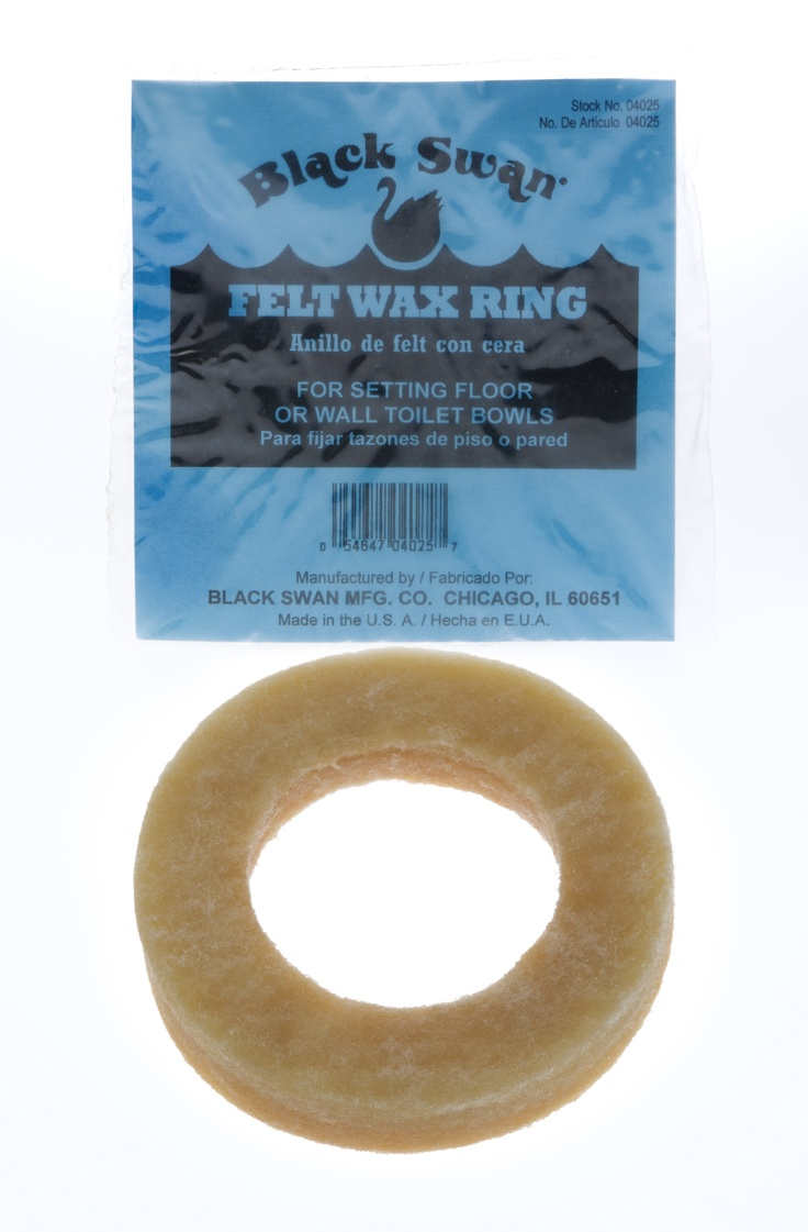 Black swans felt wax ring is a felt ring impregnated with