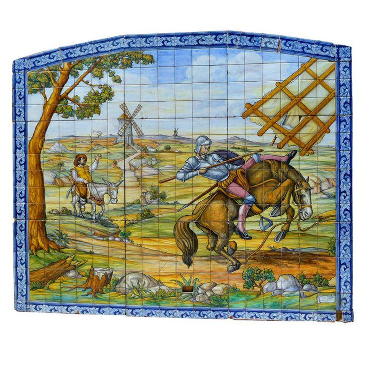Don Quixote Tile Mural  Spain  1950's