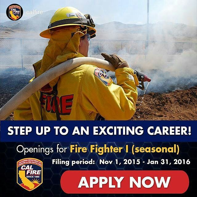 #Repost @calfire Ready for an exciting & rewarding career as a seasonal firefighter? Apply now & learn more at: fire.ca.gov/FF1 #firefighter #career #california #ca #norcal #socal #seasonalfirefighter #jobs #firefighters_daily #CALFIRE #FireDepartment #FireService #ff1