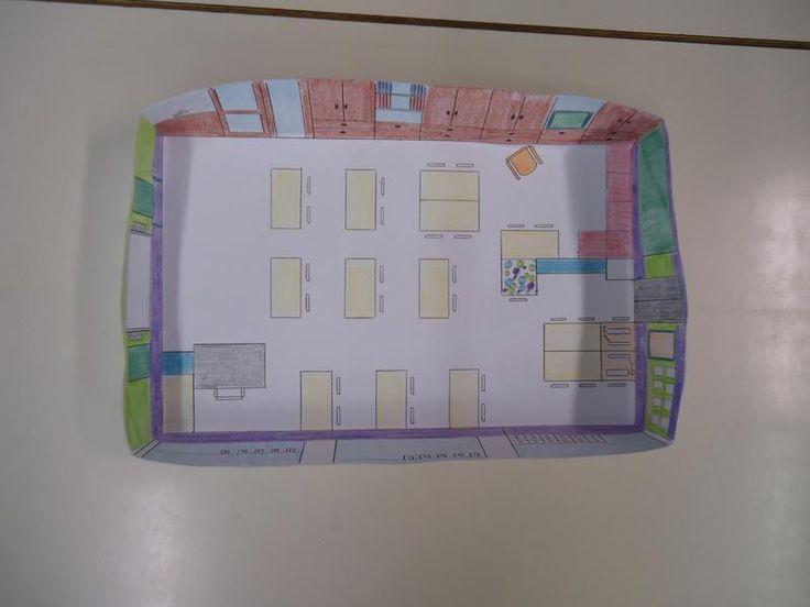 1ste leerjaar bouwt een maquette en plattegrond van de klas.