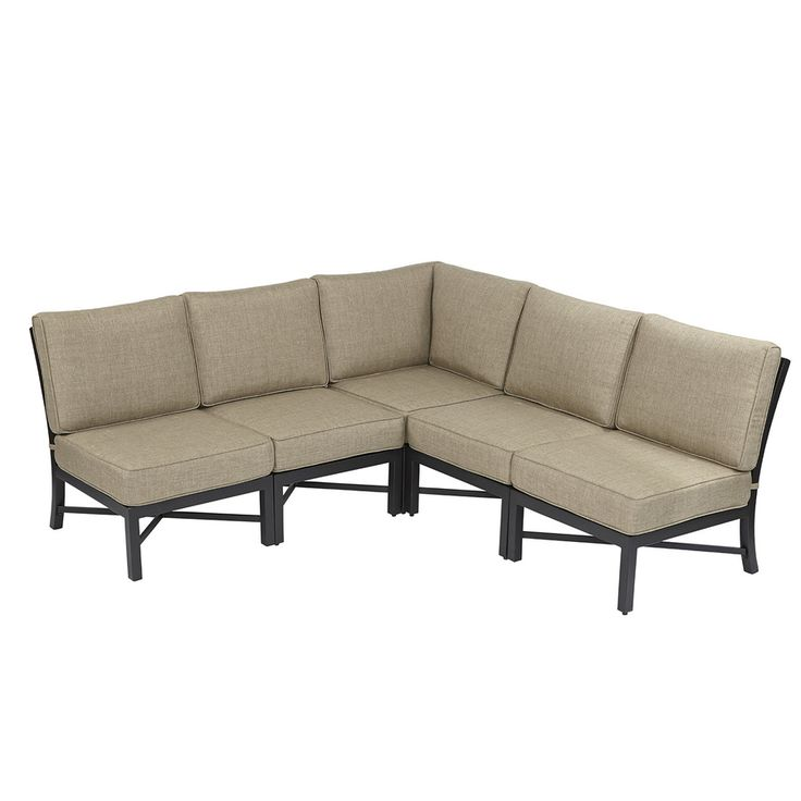 Shop Garden Treasures 5 Piece Palm City Steel Cushioned Patio Sectional  Furniture Set At Lowes