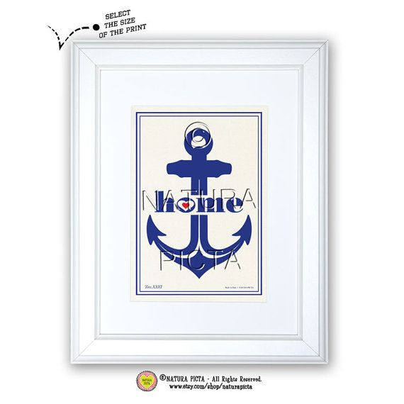 Anchor art printCoastal printBeachy printAnchor by naturapicta, $5.99 © NATURA PICTA All Right Reserved