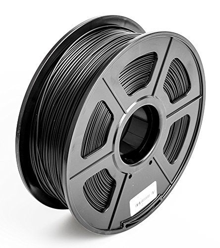 SUNLU 3D Printer Filament PLA , No Bubbles, No Need to Heat, Dimensional Accuracy  /- 0.02 mm, 1 kg Spool, 1.75 mm, Black >>> Click image for more details.