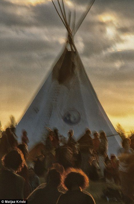 One big Rainbow Family: 'Rainbow Gathering' attendees do not have to pay to attend the eve...