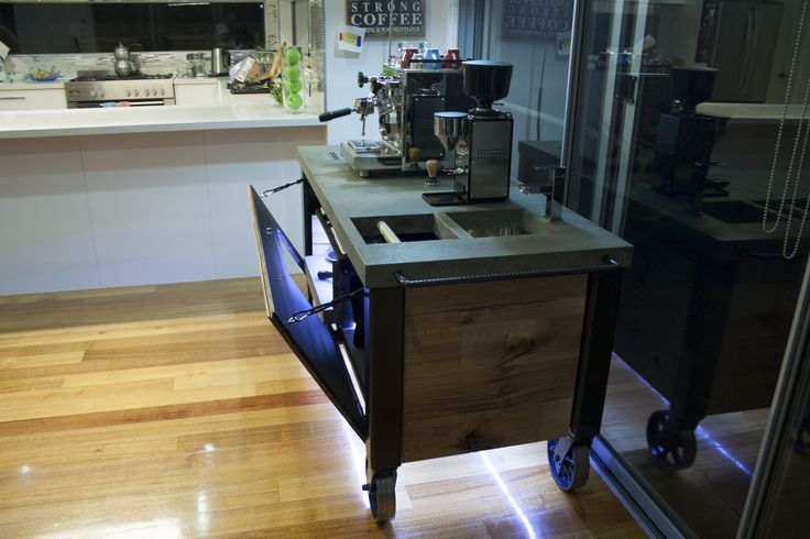 Profitec Pro 700 - Coffee Cart - Coffee Bar - Espresso Cart - Espresso Bar - Coffee Bench - Espresso Bench - Coffee Station - Espresso Station