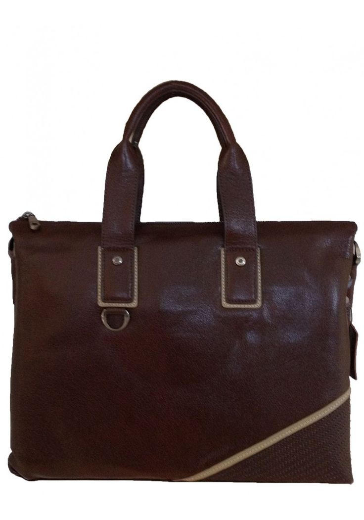 Men's brown genuine leather business laptop bag - Father's Day Special