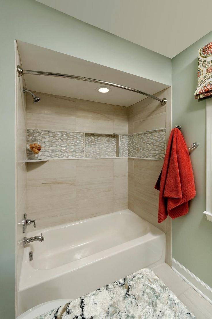 best 25 bathtub tile surround ideas on pinterest bathtub hgtv shows you how gray and white mosaic tile can add depth and dimension to your typical shower bath