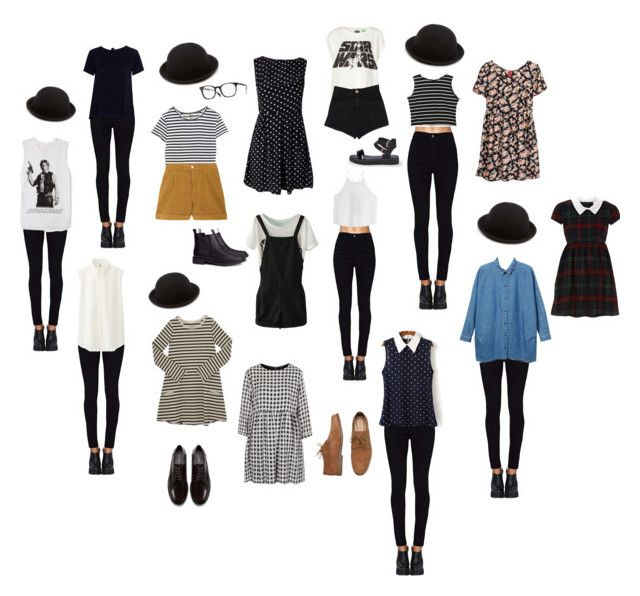 """Bowler Hat Outfits"" by jessi-jonasze ❤ liked on Polyvore featuring moda, Enza Costa, Levi's Made & Crafted, Forever 21, H&M, Pull&Bear, AX Paris, Boohoo, Oliver Peoples y TIBI"