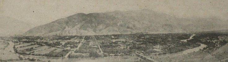 Primera foto panorámica de Huánuco, tomada para la eternidad por Languasco y publicada en septiembre de 1906 en la Revista Actualidades.