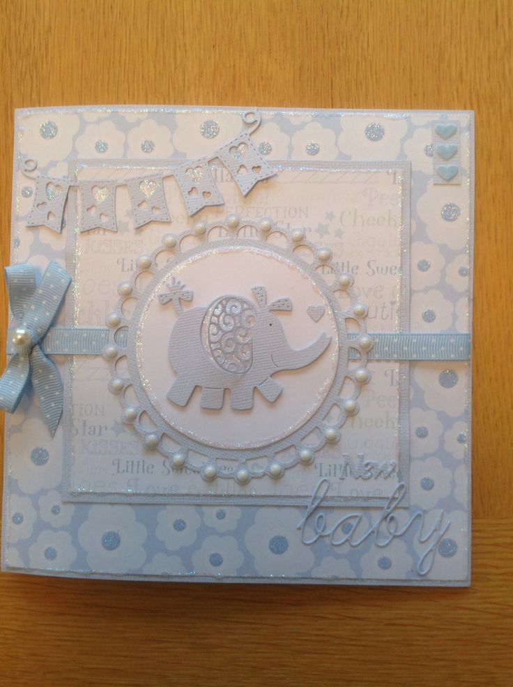 New baby tattered lace card