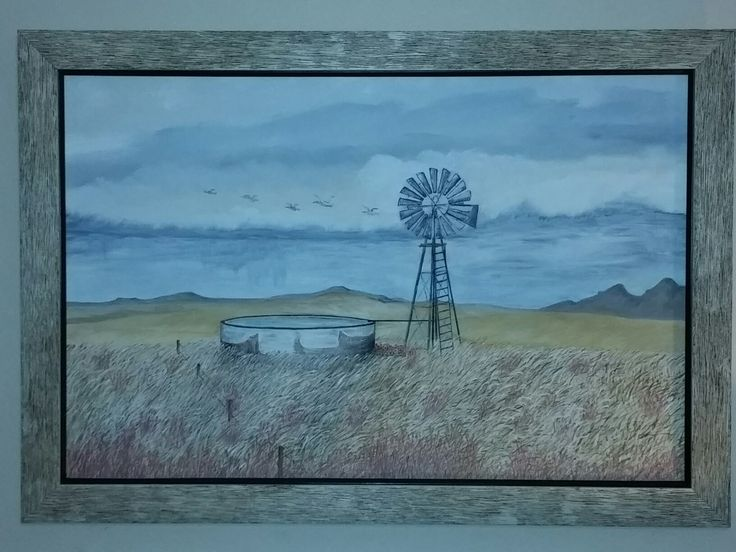 The Windmill ( Oil on canvas )