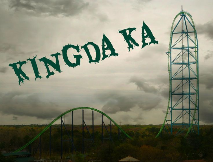 King Da Ka in Jackson, NJ - The tallest roller coaster in the world. This upside down U-shaped track bolts up 45 stories in the sky-that's 456 feet high! You'll leave the station going from 0 to 128 mph in a jaw-dropping 3.5 seconds. It's 90° straight up. And once you get to the top you'll be plummeting right back down in a 270-degree spiral that is not recommended for wimps.