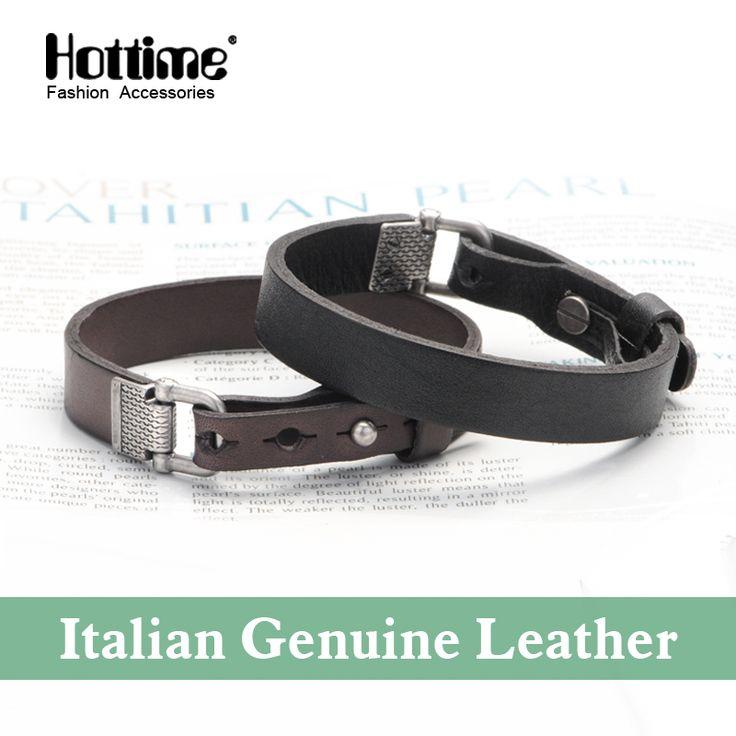 Fashion Pulseira 2016 New Fashion Wristband Cuff Vintage Italian Genuine Leather Bracelet Bangles For Male Christmas Gifts PG002 www.bernysjewels.com #bernysjewels #jewels #jewelry #nice #bags