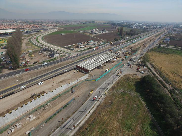 Inspección Vial Tramo Peaje Lampa - Autopista A. Vespucio (17 Km). Paso lo Marcoleta
