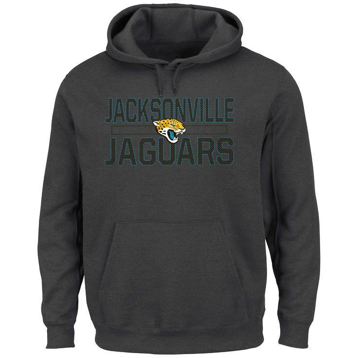 Jacksonville Jaguars Majestic Big & Tall Kick Return Pullover Hoodie - Charcoal - $51.99