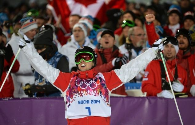 Canada's Alex Bilodeau wins Olympic Gold in men's moguls freestyle skiing