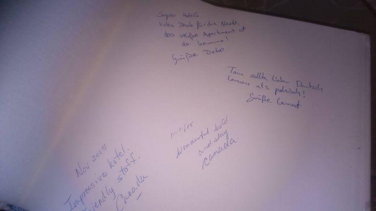 Wpis do księgi pamiątkowej