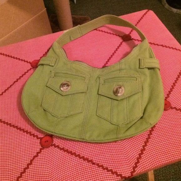 Gap handbag Preloved Gap handbag, green denim like material GAP Bags