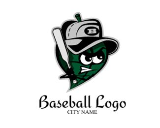 Baseball Logo Logo design - A baseball monster is represented in this non conventional, artistic and unique logo. The unique presentation combines old world charm with a new, creative bent. This conveys a feeling of old-fashioned values (such trustworthiness, quality and timelessness) with a modern flair — you won't be pigeon-holed as just another baseball team with this logo!