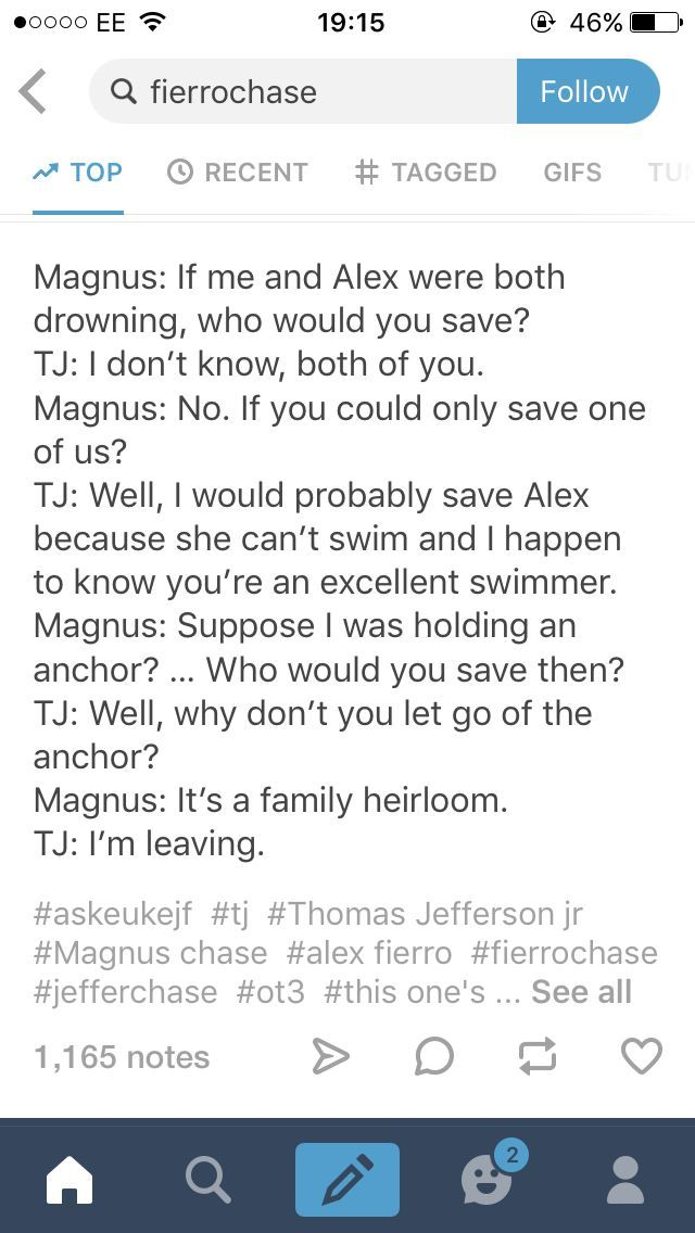 This makes me really happy. Magnus being jealous