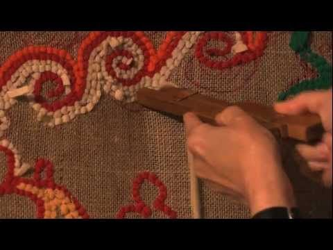▶ Rag Rug Workshop - YouTube... rug hooking using a speed shuttle (handmade) and working from the back