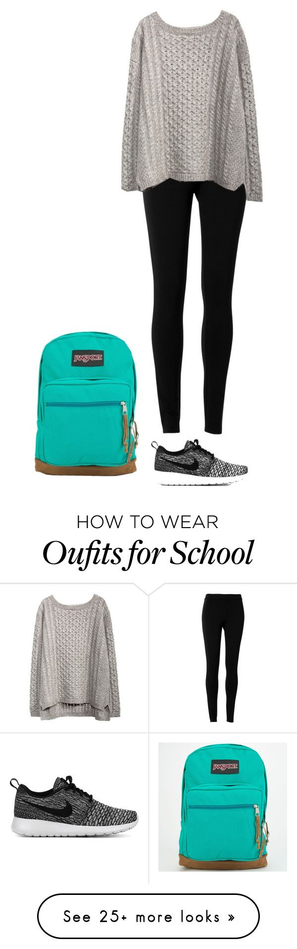 Back to school fall by katieem03 on Polyvore featuring Max Studio, NIKE and JanSport
