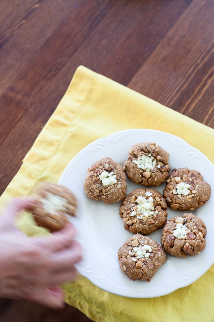 Salted Almond Butter Toffee Cookies | Buttered Up | Pinterest