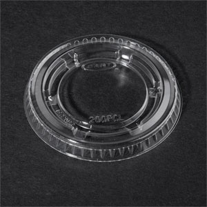 Dart 200PCL 2 oz. Clear Plastic Souffle / Portion Cup Lid 125 / Pack