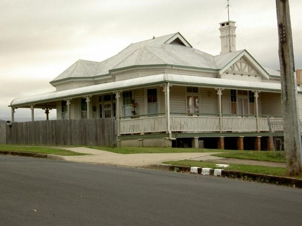 Queenslander style home in New South Wales.