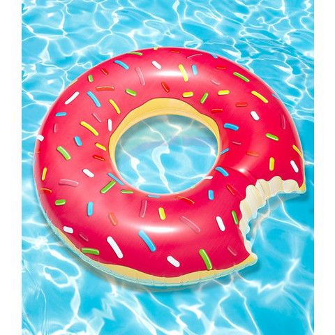FredFlare.com - Gigantic Donut Pool Float - Big Mouth Toys Sprinkle Donut Inner Tube