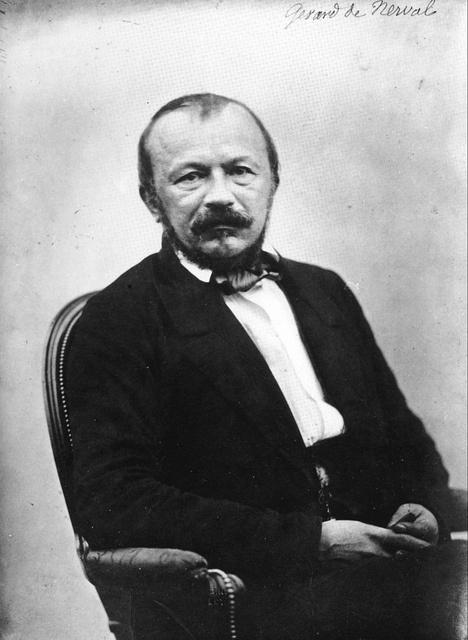 """GERARD DE NERVAL fotografato nel 1854 - 55: questo è l'unico ritratto conosciuto del tormentato poeta delle """"Chiméres"""""""