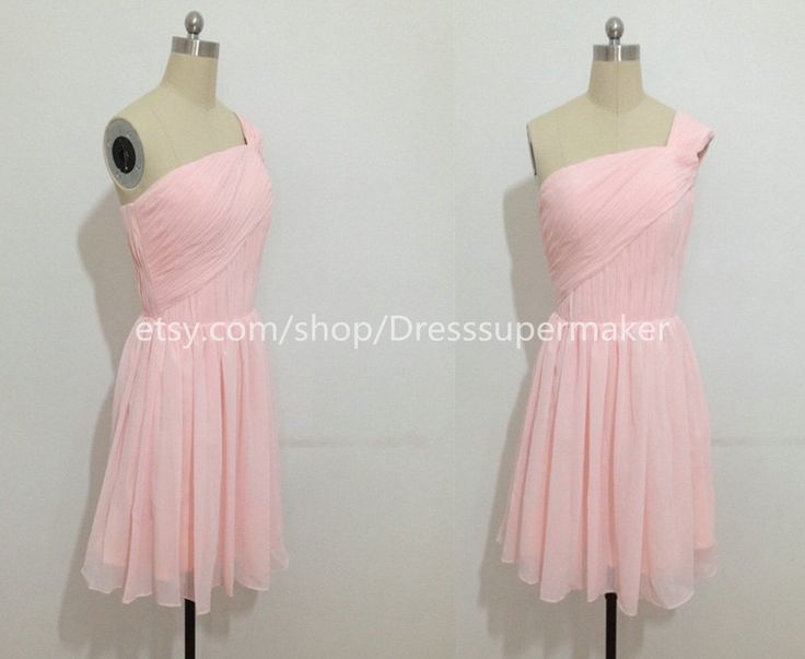 Short Pink Prom Dress,Inexpensive Pink Bridesmaid Dress,Blush Bridesmaid Dress,Short Pink Chiffon Dress,Blush Bridesmaid Dress,Prom Dresses by Dresssupermaker on Etsy https://www.etsy.com/listing/215041012/short-pink-prom-dressinexpensive-pink